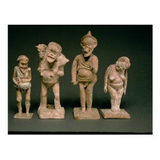 Figurillas de actores y de actrices, helenísticas, postal
