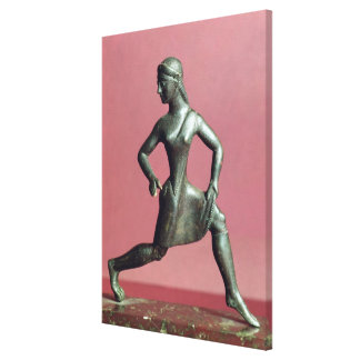 Figurine of a girl running, canvas print