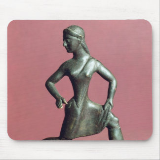 Figurine of a girl running, mouse pad