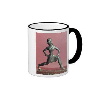 Figurine of a girl running coffee mugs
