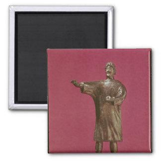 Figurine of a man wearing a sagum fridge magnets