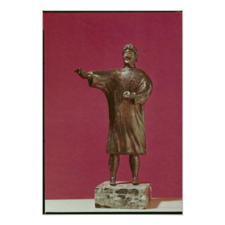 Figurine of a man wearing a sagum poster