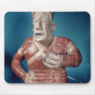 Figurine of a tlachtli player wearing a helmet mouse pad