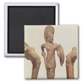 Figurine of a warrior, c.490 BC 2 Inch Square Magnet