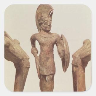 Figurine of a warrior, c.490 BC Square Sticker