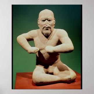 Figurine of a wrestler poster
