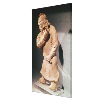 Figurine of an actor whistling canvas print