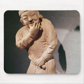 Figurine of an actor whistling mouse pad