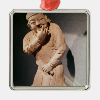 Figurine of an actor whistling christmas tree ornament