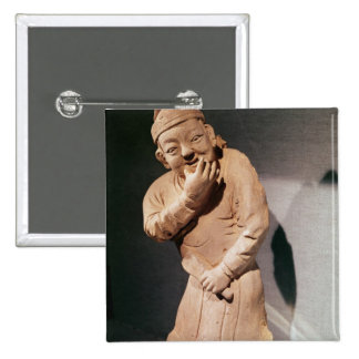 Figurine of an actor whistling pinback button