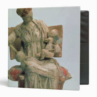 Figurine of Aphrodite playing with Eros 3 Ring Binder