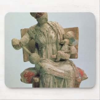 Figurine of Aphrodite playing with Eros Mouse Pad
