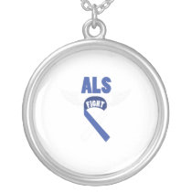 Fihgt ALS Awareness Silver Plated Necklace