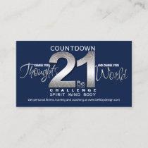Fiitness Challenge Rward Business Cards
