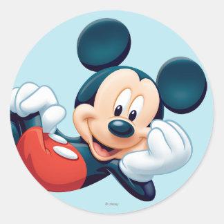 Fijación de Mickey Mouse Pegatina Redonda