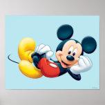 Fijación de Mickey Mouse Póster