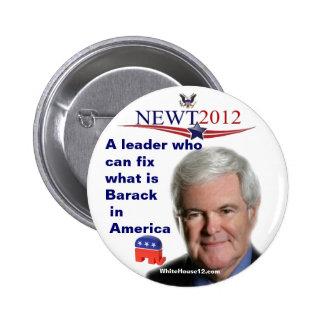 Fijación de Newt Gingrich ..... cuál es Barack Pins