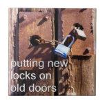 fijación de puertas viejas teja  ceramica