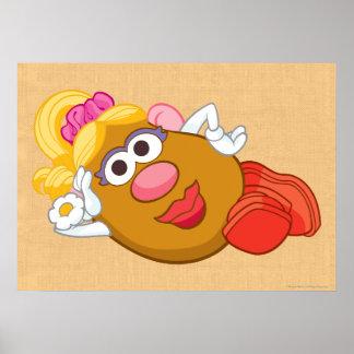 Fijación de señora Potato Head Póster