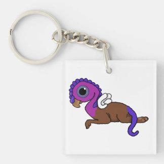 Fijación púrpura y azul de Gryphon del bolsillo de Llavero Cuadrado Acrílico A Doble Cara