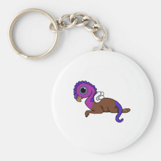Fijación púrpura y azul de Gryphon del bolsillo de Llavero Redondo Tipo Pin
