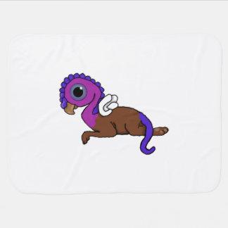 Fijación púrpura y azul de Gryphon del bolsillo de Mantitas Para Bebé