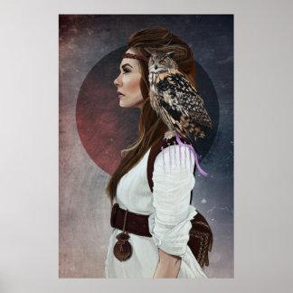 """Fijar """"a Lady Owl """" Poster"""