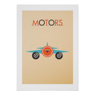 Fijar MOTORS: The plano Póster