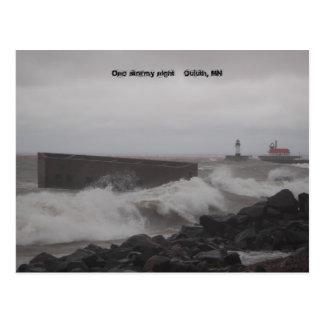 fije card2 003, una noche tempestuosa    Duluth, Tarjetas Postales
