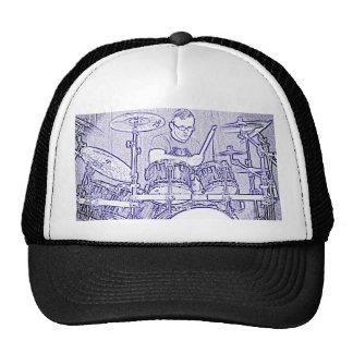 Fije el casquillo o el gorra del batería