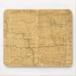 Fije el mapa de ruta del territorio de Dakota Alfombrillas De Ratón