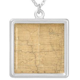 Fije el mapa de ruta del territorio de Dakota Colgante Cuadrado