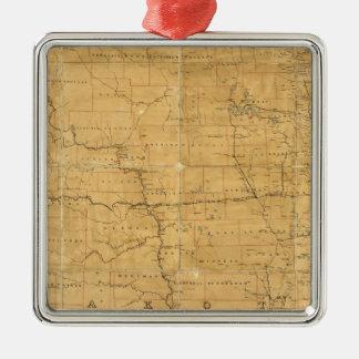 Fije el mapa de ruta del territorio de Dakota Adorno