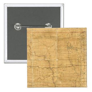 Fije el mapa de ruta del territorio de Dakota Pin Cuadrada 5 Cm