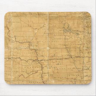 Fije el mapa de ruta del territorio de Dakota Alfombrillas De Ratones