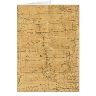 Fije el mapa de ruta del territorio de Dakota Tarjeta De Felicitación