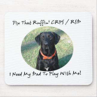 Fije ese Ruffin CRPS RSD - texto NEGRO del papá Tapetes De Ratón