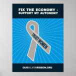 Fije la economía - apoye mi autonomía poster
