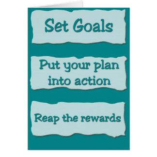 Fije las metas (a partir de la una) tarjeta de felicitación