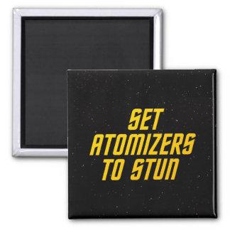 Fije los atomizadores para atontar imán cuadrado