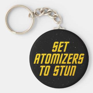 Fije los atomizadores para atontar llavero personalizado