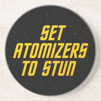 Fije los atomizadores para atontar posavasos cerveza