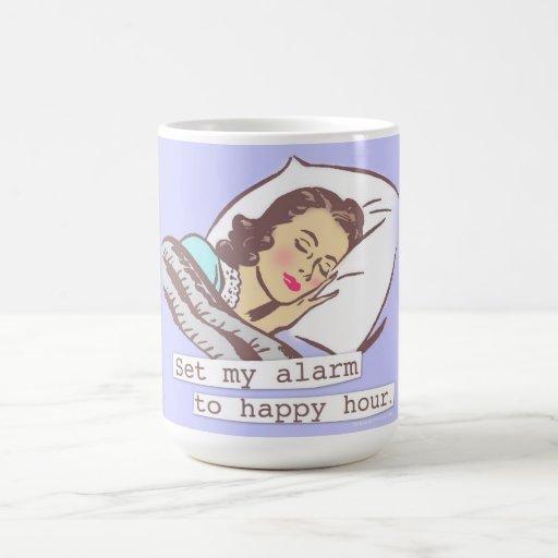 Fije mi alarma a la hora feliz tazas