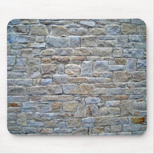 Fije profundamente la pared de piedra alfombrillas de ratones