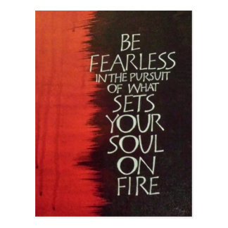 Fije su alma en el fuego tarjetas postales