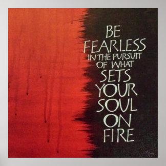 Fije su alma en la impresión del fuego