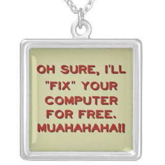 ¿Fije su ordenador gratis? Colgante Cuadrado