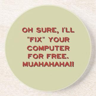 ¿Fije su ordenador gratis? Posavasos De Arenisca