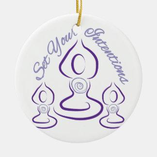 Fije sus intenciones adorno navideño redondo de cerámica