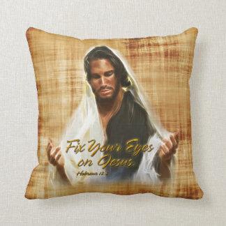 Fije sus ojos en la almohada de Jesús